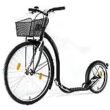 Kickbike City G4 - Tretroller für Erwachsene - Scooter Cityroller Finnscoot (schwarz-matt)