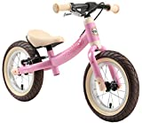 BIKESTAR Mitwachsendes Kinder Laufrad Lauflernrad Kinderrad für Mädchen ab 3 - 4 Jahre | 12 Zoll Flex Sport Kinderlaufrad Rosa