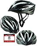 Fahrradhelm Dunlop HB13 für Damen, Herren, Kinder, EPS Innenschale, Abnehmbares Visier für optimalen Blendschutz, Leichter MTB City Bike Helm, besonders Luftig (L(58-61cm), Weiß)