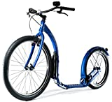 Kickbike Cruise Max 20 - Tretroller für Erwachsene - Scooter Cityroller Finnscoot schwarz / weiß / blau (eloxal-blau)