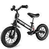 besrey Kinder Laufrad Kinderlaufrad Gummireifen Kinder Fahrrad ab 2 Jahren mit Stoßdämpfern und 12 Zoll Gummiräder Luftreifen Lauflernrad für Jungen und Mädchen