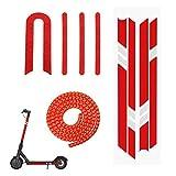 Yungeln 3er Set Scooter Ersatzteil Zubehör 2 Stücke Scooter Reflektor Sticker + 1M Kabelschlauch für Xiaomi 1S / M365 / Pro Scooter