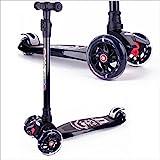 BAYTTER Kinderscooter Dreirad mit verstellbarem Lenker Kinderroller Roller Scooter für Kinder ab 3 4 5 Jahren, bis 75kg belastbar (Schwarz)