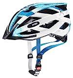 uvex Unisex Jugend, air wing Fahrradhelm, blue white, 52-57 cm