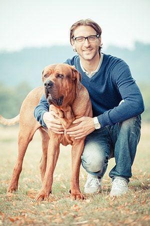 daniel und hund