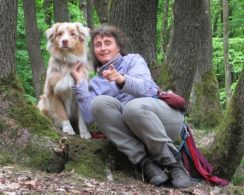 Doris mit Hund