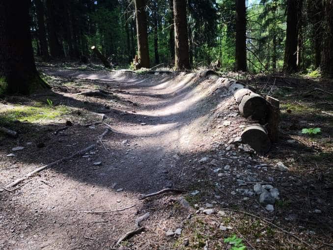 Kurven am Flowtrail Siegen