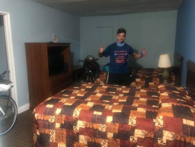 erstes motel mit tretroller