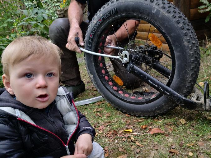 tretroller kinderwagen montieren